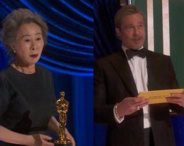 El piropo de Youn Yuh-Junga Brad Pitt en los Premios Oscar