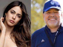 Tini Stoessel y Diego Maradona