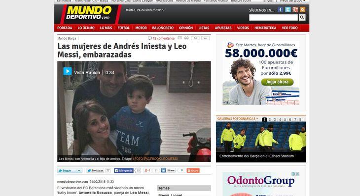 En España aseguran que la mujer de Lionel Messi está embarazada