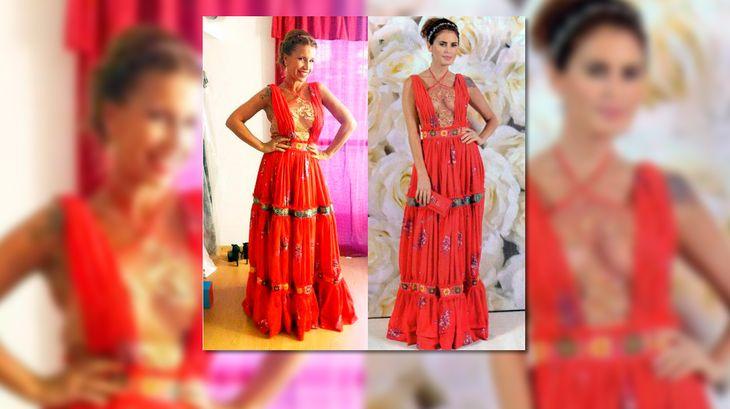 Dos mujeres con el mismo vestido: Flor Peña ayer, Silvina Luna antes