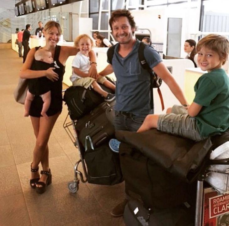 Pampita y Benjamín Vicuña regresaron a Argentina: Somos una familia gitana