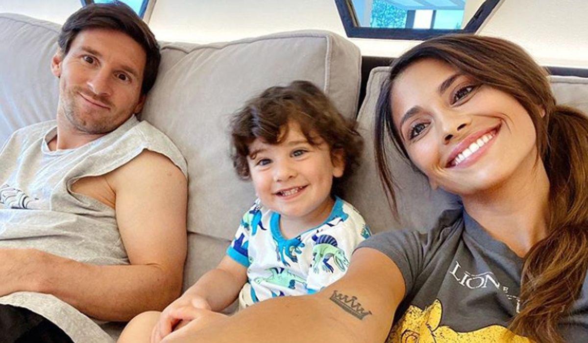 Lionel Messi, en familia