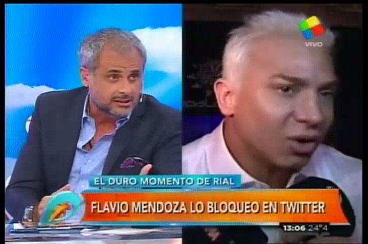 Jorge Rial: Flavio Mendoza me bloqueó en Twitter
