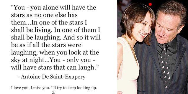 La despedida a Robin Williams de su hija: Vos sólo tendrás las estrellas