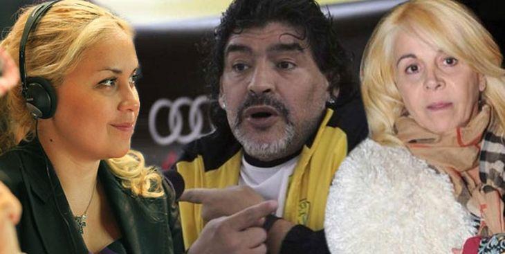 Le feroz guerra de las mujeres de Maradona: Diego está indignado con Ojeda