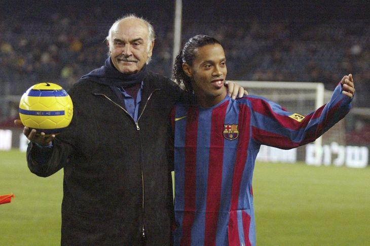 Sean Connery y Ronaldinho