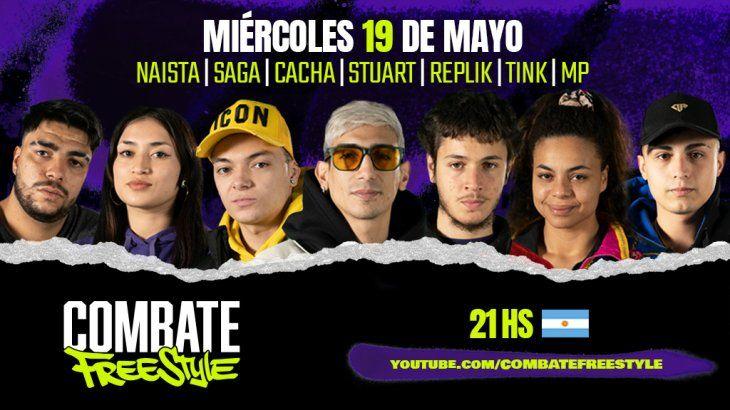 Cuándo y dónde ver las batallas de Combate Freestyle Argentina