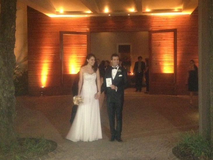 El saludo de los famosos en el casamiento de José María Listorti y Mónica González