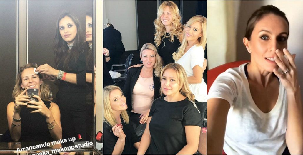Las famosas argentinas maquillándose para el casamiento de Messi y Antonella
