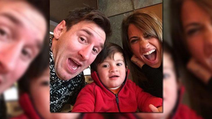 Lionel Messi, de festejo: con una selfie familiar celebró el cumpleaños de su mujer, Antonella Roccuzo