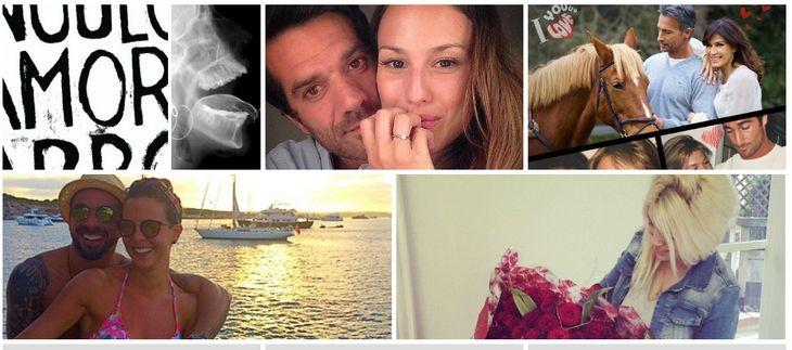 Los famosos celebraron el Día de los Enamorados en las redes sociales