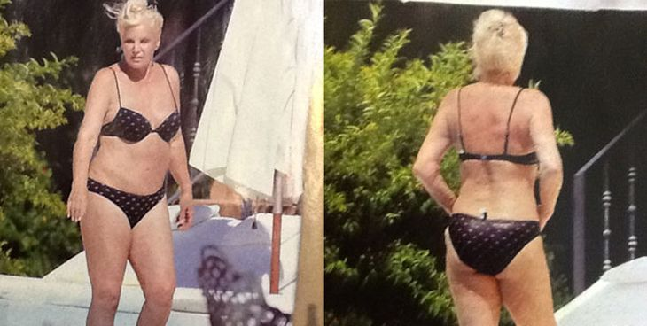 Susana se animó a la bikini