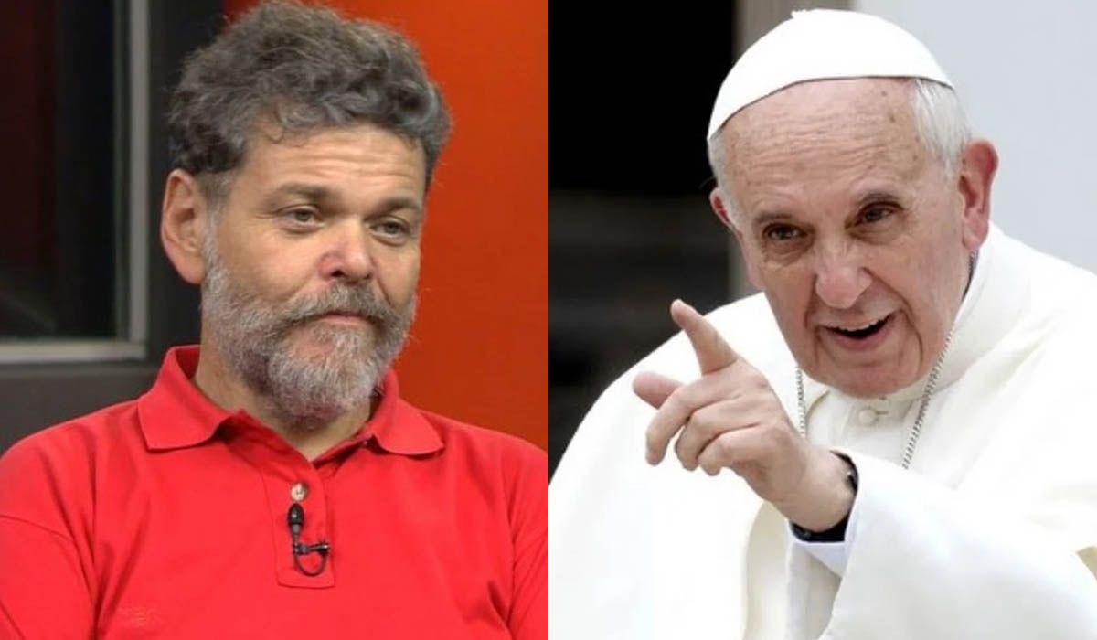 Alfredo Casero, contra el Papa Francisco