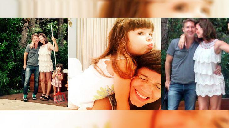 El verano de Griselda Siciliani y Adrián Suar con su hija Margarita: teatro y selfies familiares
