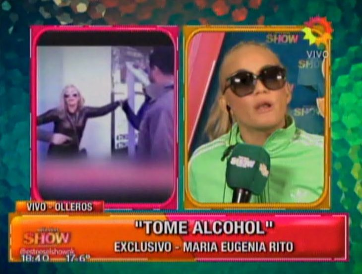 El descargo de María Eugenia Ritó; dice que solo estaba borracha: ¿Nunca se agarraron un pedo?